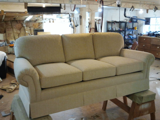 Upholstered sofa by Portland Commercial Upholstery