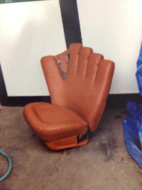Nike Glove Chair with Custom Upholstery by Portland Commercial Upholstery