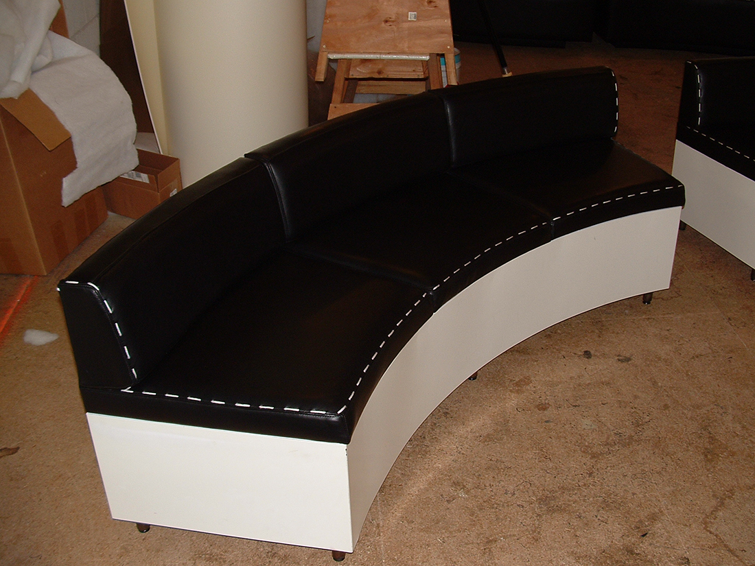 Couch/bench seating by Portland Commercial Upholstery done for Nike