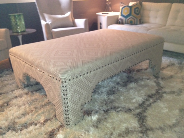 Custom made bench by Portland Commercial Upholstery